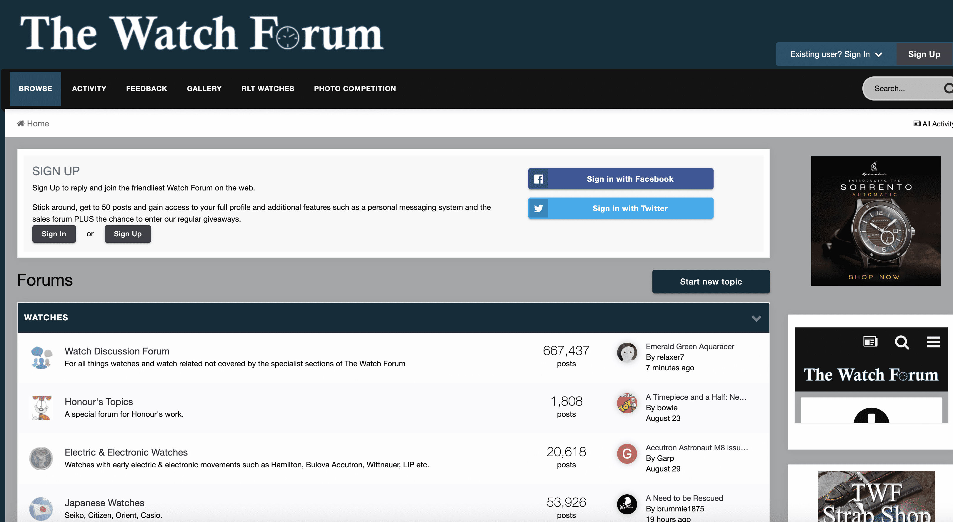 The watch forum