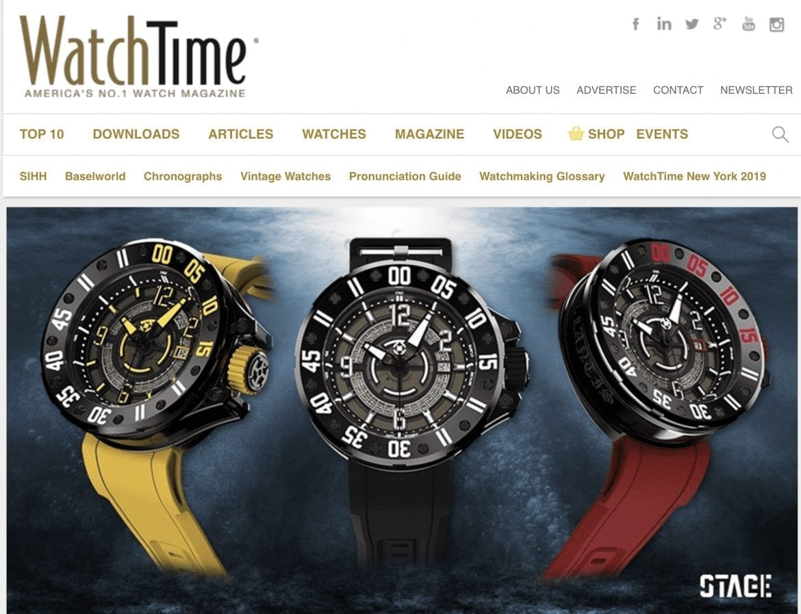 Home page of Watch Time Online magazine