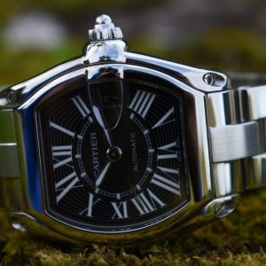 cartier roadster, on the tree, black dial