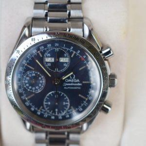 blue dial, omega speedmaster