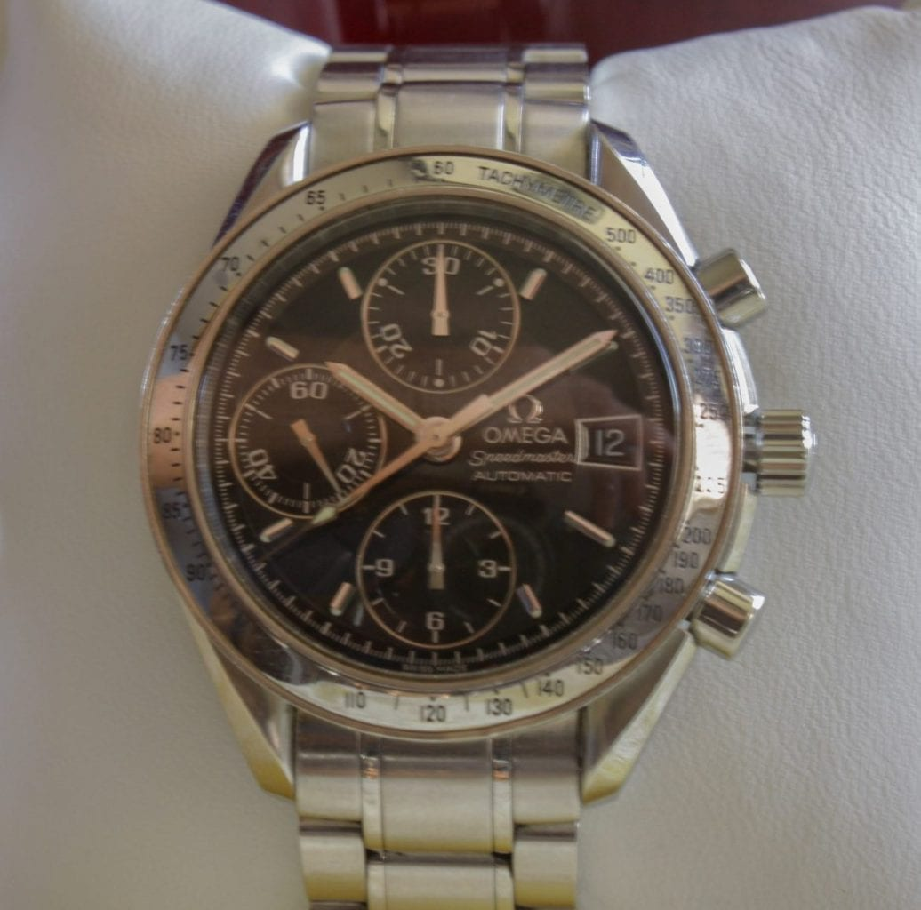 omega speedmaster, black dial, omega watch, watch dealer article