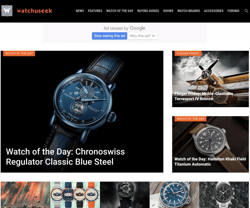 Watchuseek home page