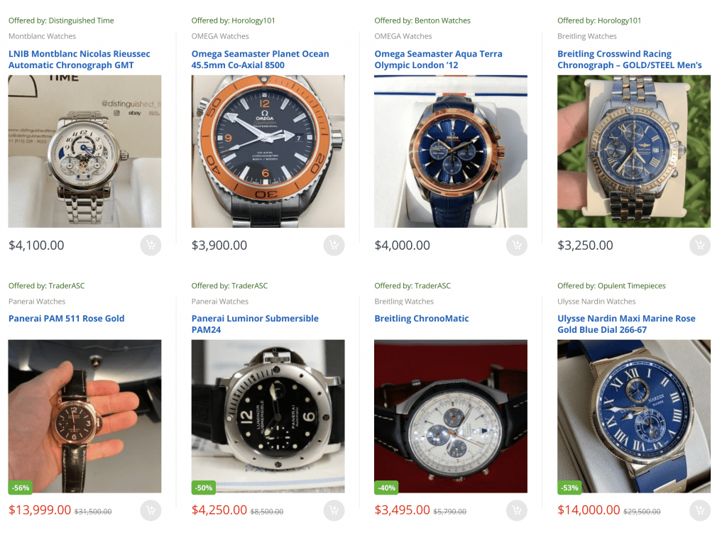 watches, rolex, omega, panerai, breitling, watch marketplace, ready to ship