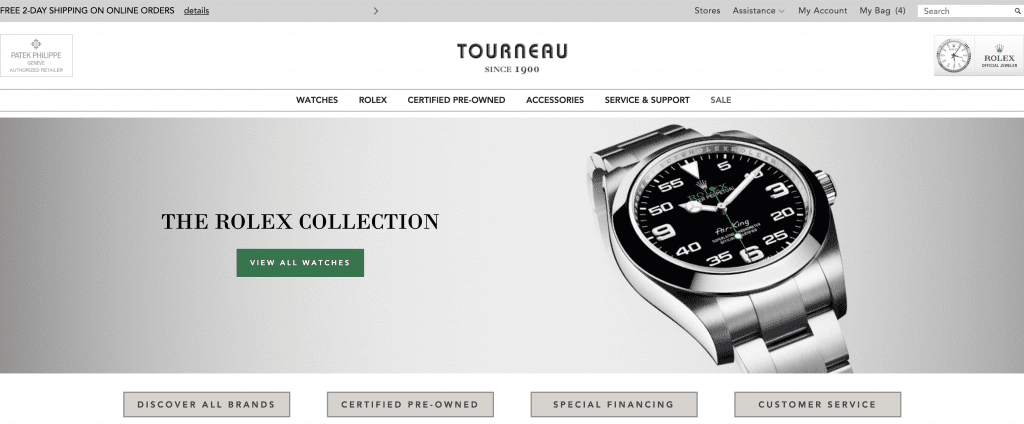 home page tourneau, online store, Luxury Watch Websites