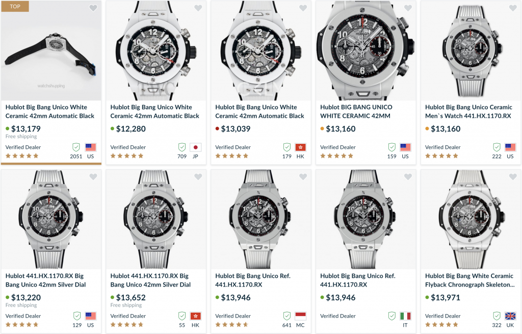 Hublot watches for resell