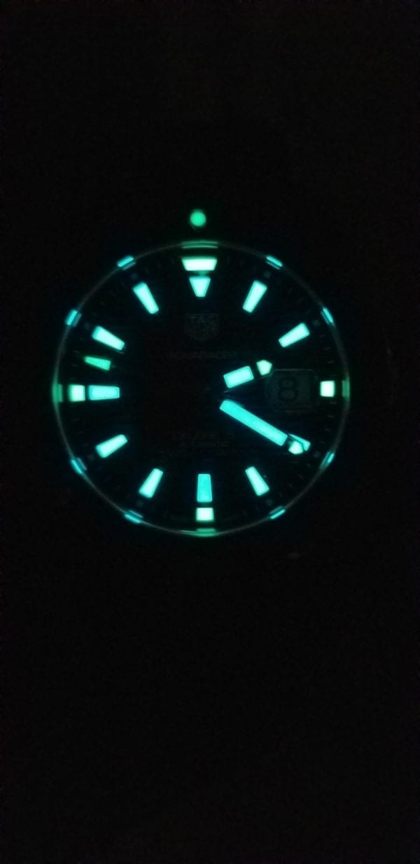 TAG Heuer Aquaracer Calibre 5 Automatic Watch Lume