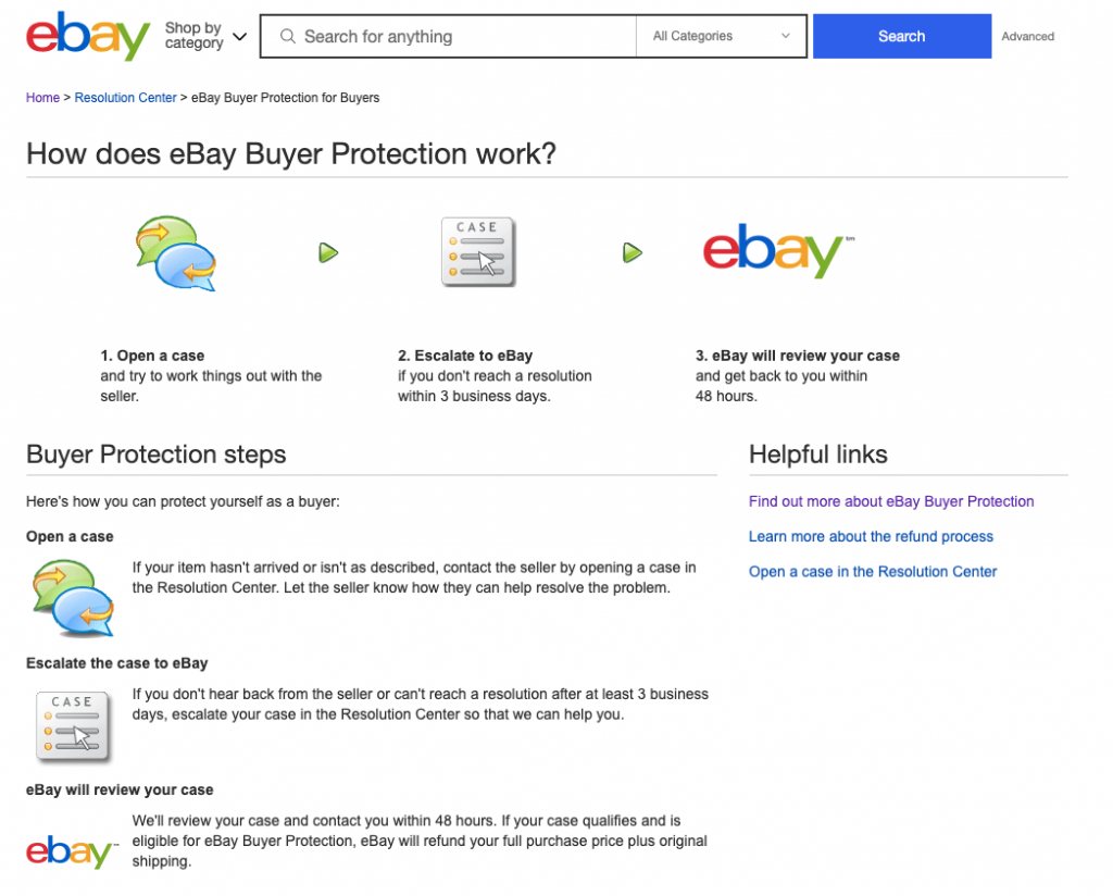 buyers protection on ebay