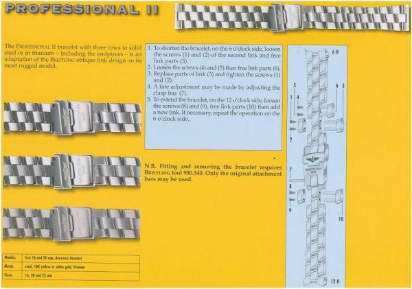 Breitling Professional II bracelet