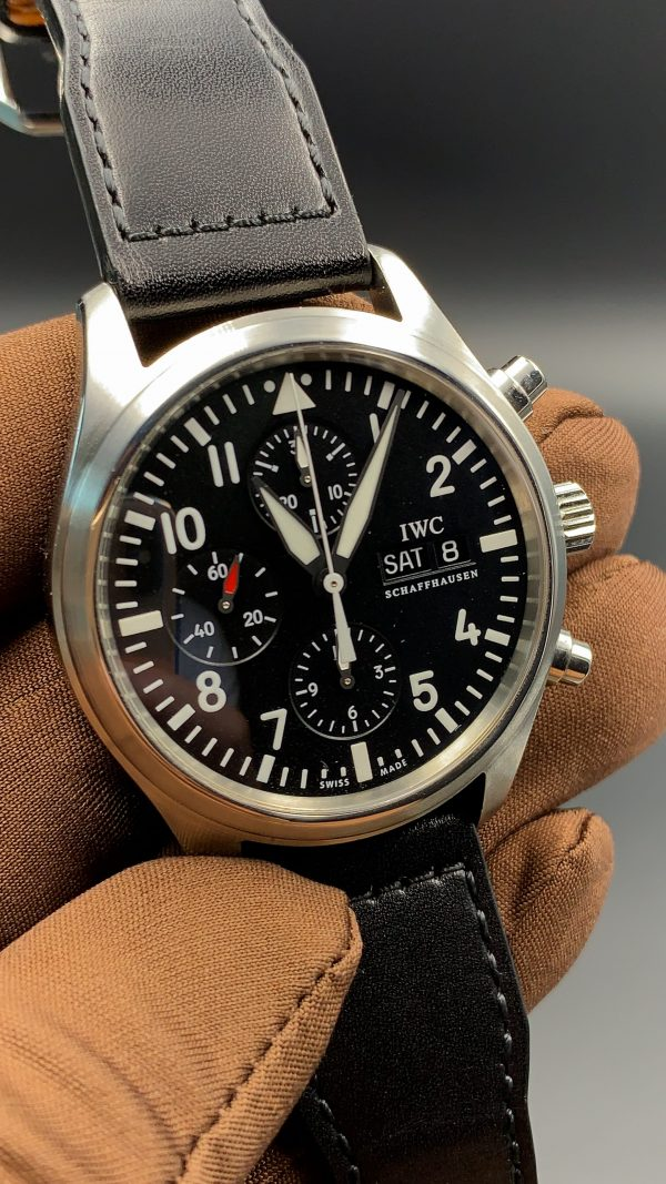 IWC Pilot Chronograph Complete with Box and Papers Mint