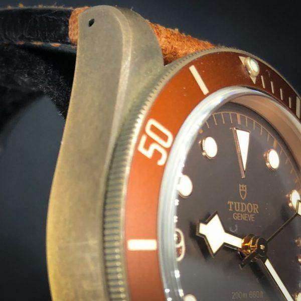 Tudor Black Bay Bronze on leather