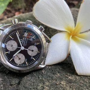 omega speedmaster reverse panda 3511.50, hawaiian flower