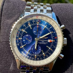 Breitling Navitimer World GMT Blue Dial A24322