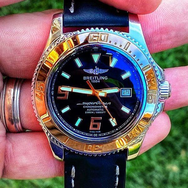 Breitling SuperOcean 44 Rose Gold Bezel - C17391