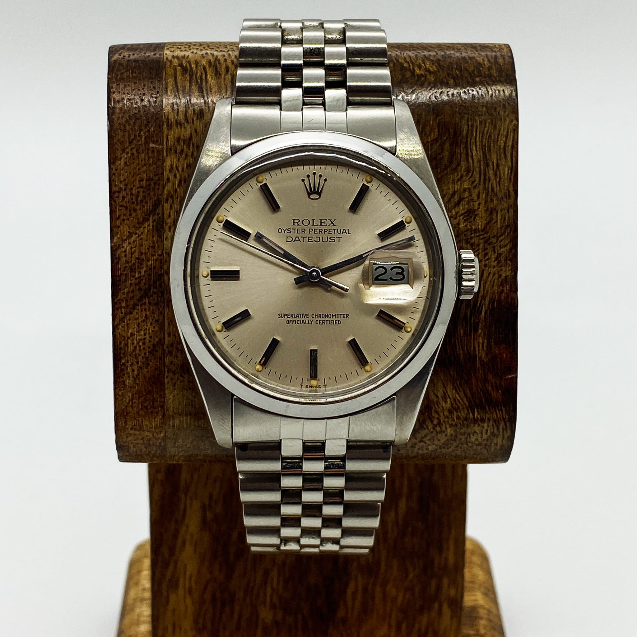 ROLEX DATEJUST 1978 16000 SILVER DIAL