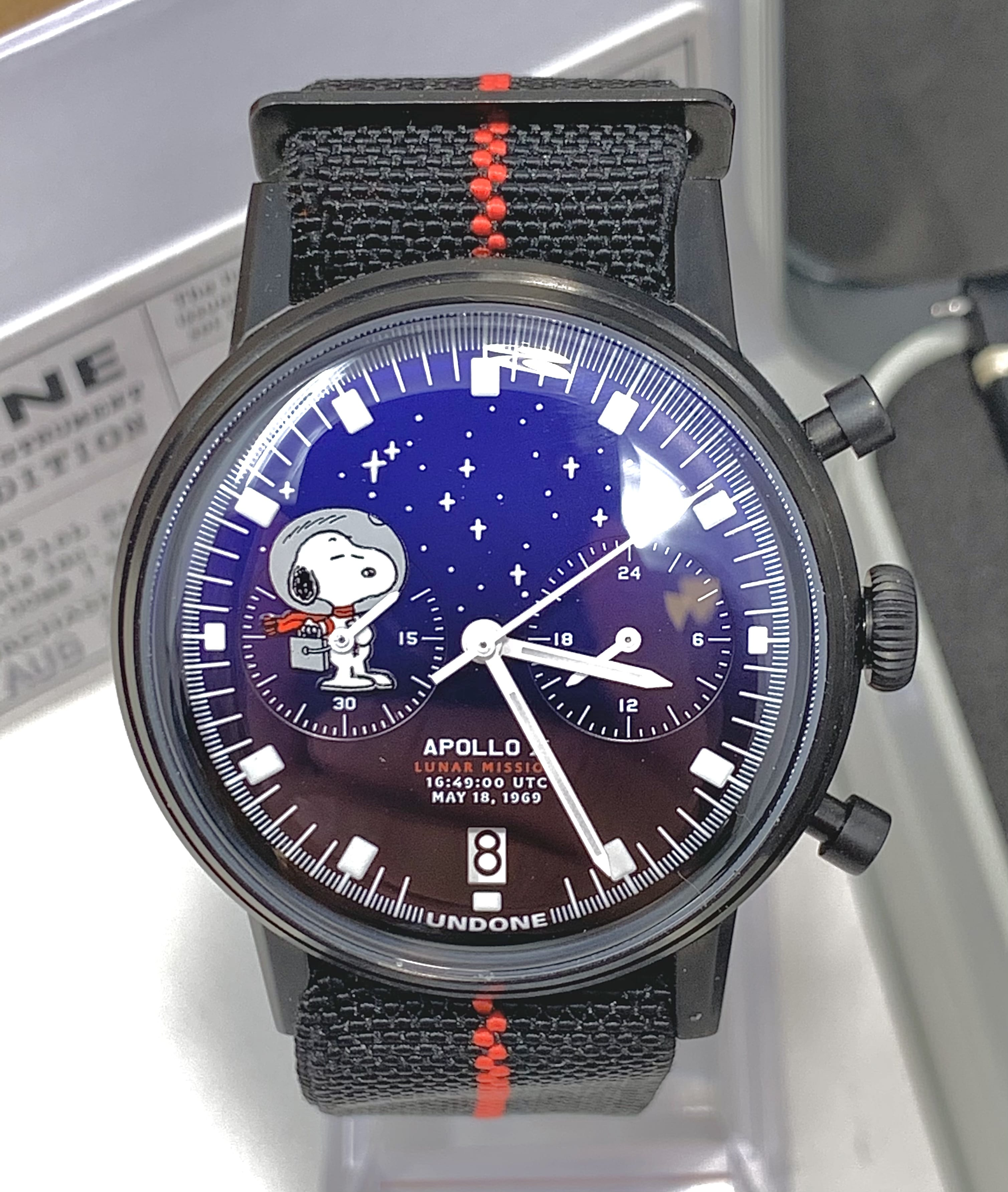 "Undone ""limited edition"" Snoopy Starlight NASA Apollo X Mission Chronograph"