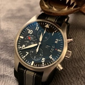 IWC Pilot Chronograph Men's Watch 43mm w/original box & papers