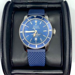 Breitling Superocean Heritage 46M Blue Dial w Box & Papers & extra strap!