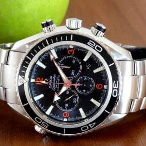 Omega Seamaster Planet Ocean Chronograph Full Set Bracelet 2210.51 Int'l Ship