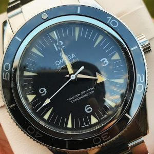 Omega Seamaster Black 300 Co Axial Chronometer 41 Steel 233.30.41.21.01.001