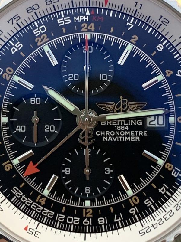 Breitling Navitimer World GMT Leather Chronometre Black Dial - 46mm - A24322