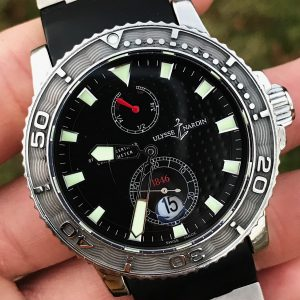 Ulysse Nardin Maxi Marine Diver Black Chronometer 43mm 263-33 Boxes and Paper