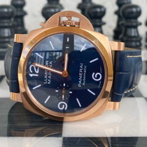 Authentic Panerai Luminor PAM01112 Blue Rare Piece