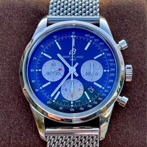 Breitling Transocean Chronograph AB015212 Box & Papers w/ Bracelet