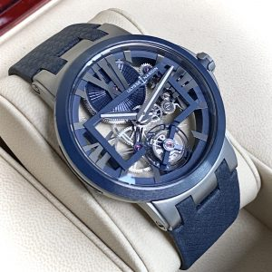 Ulysse Nardin Executive Skeleton Tourbillon Men's 45mm Watch Titanium Blue 1713