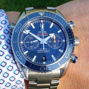 Omega Seamaster Planet Ocean 45.5mm Chronograph Blue Dial Titanium