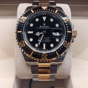 Brand New 2021 and unsized ROLEX SEA-DWELLER two-tone 18k Yellow Gold / Stainless